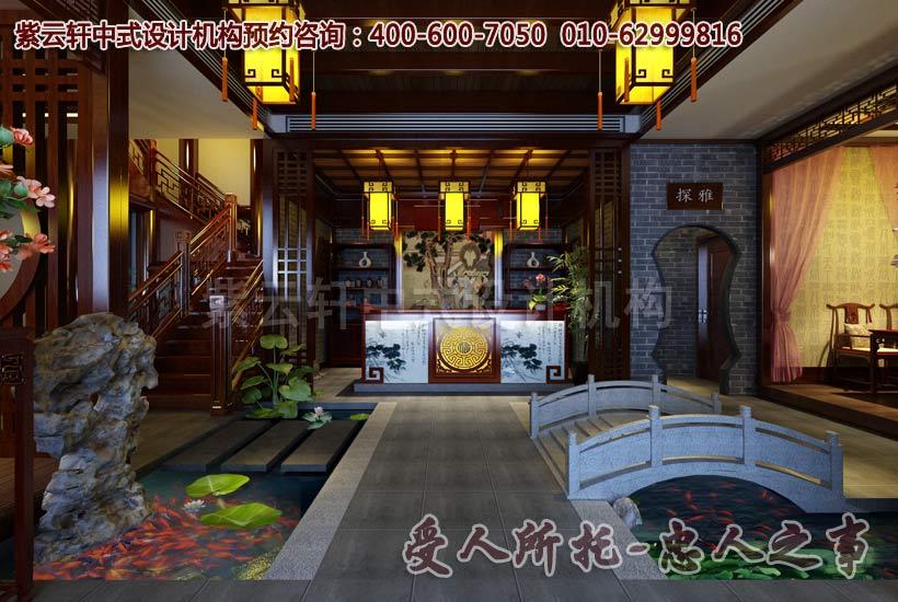 紫云轩新中式茶楼装修效果图大全2013图片