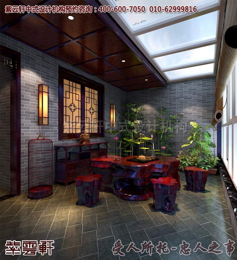 紫云轩古典中式装修样板房间效果图设计案例