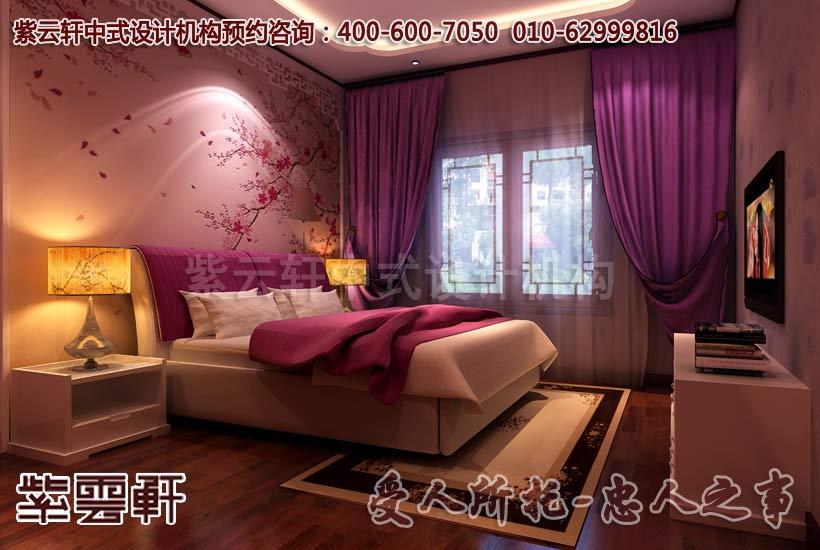 唯美床头灯打造中式卧室的古朴温馨效果