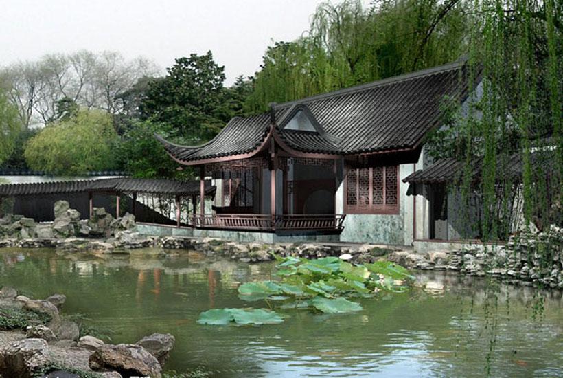 古建景观—中式园林景观设计之假山的峥嵘万象