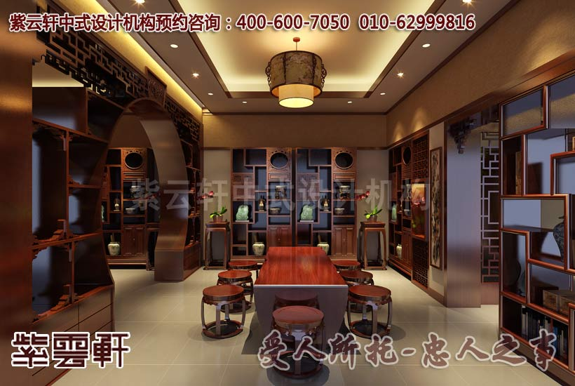 现代中式中式风格茶餐会所酒展区设计装修案例图