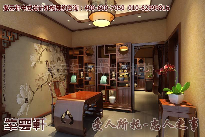现代中式中式风格茶餐会所开票区设计装修案例图