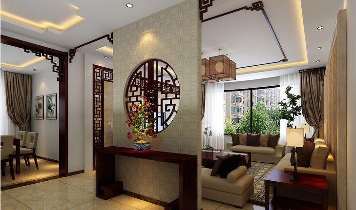 态美装饰提醒您:古典美的新中式风格玄关装修设计