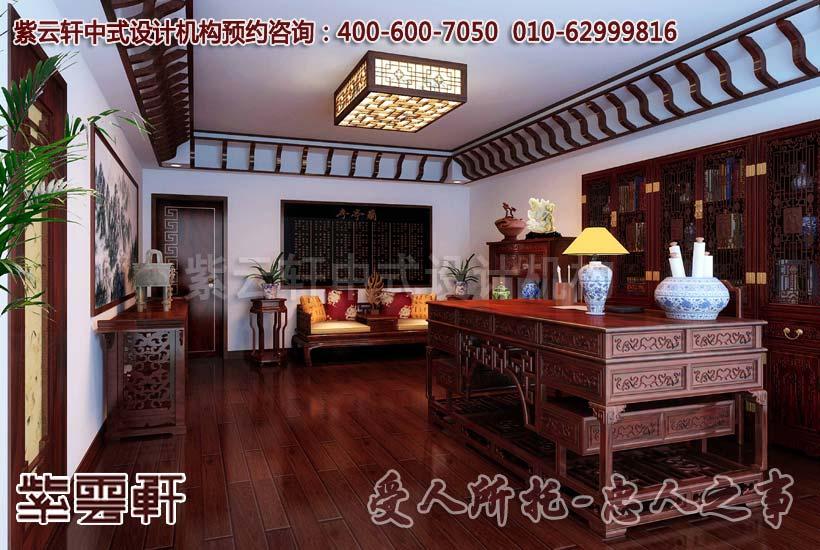 新中式装修书房如何巧妙利用家具布局空间