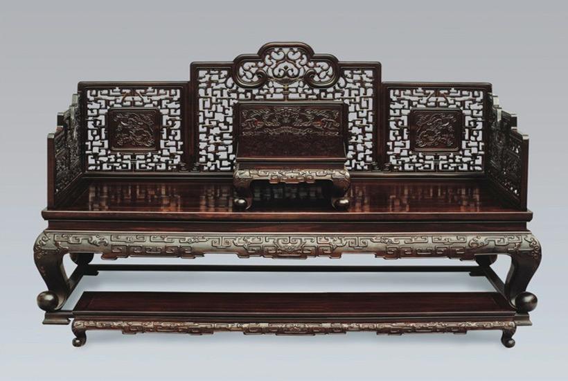 中式雕刻家具图片