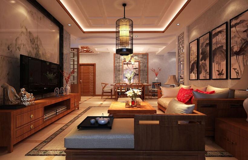 让中式装修小户型家居变得宽敞明亮的方法高清图片