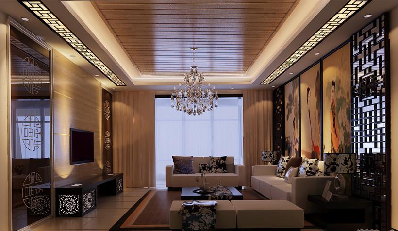实木地板单调的色彩给中式家居空间以宁静古典的气氛