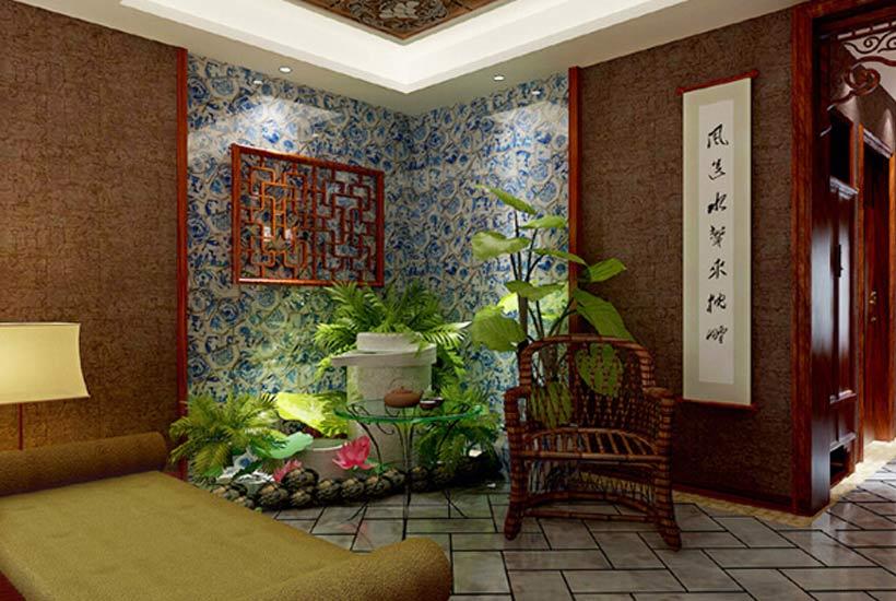 中式设计中巧用中国元素—营造清新无暇的卧室空间