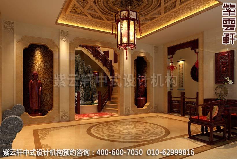 别墅门厅现代中式设计案例图