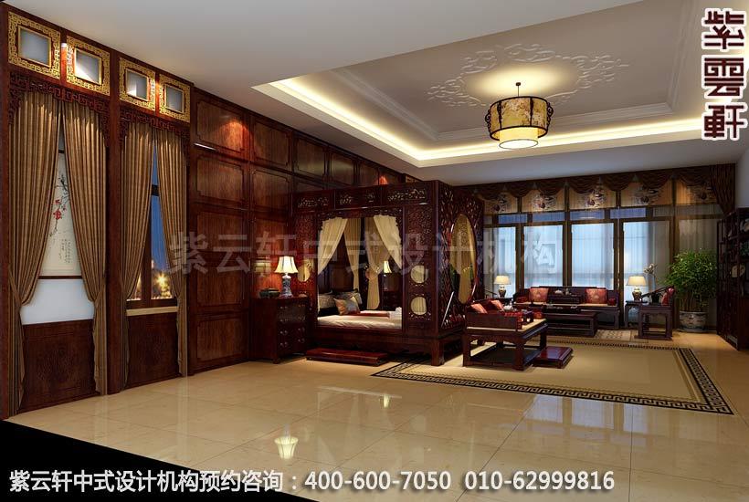 别墅主卧现代中式设计案例