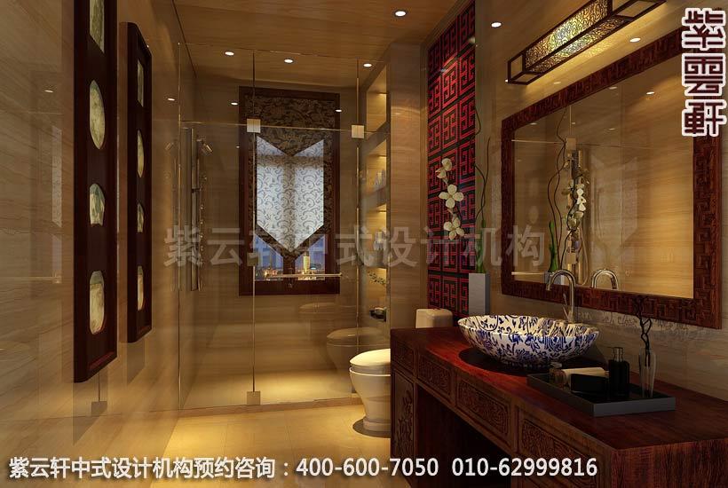 别墅卫生间现代中式设计案例