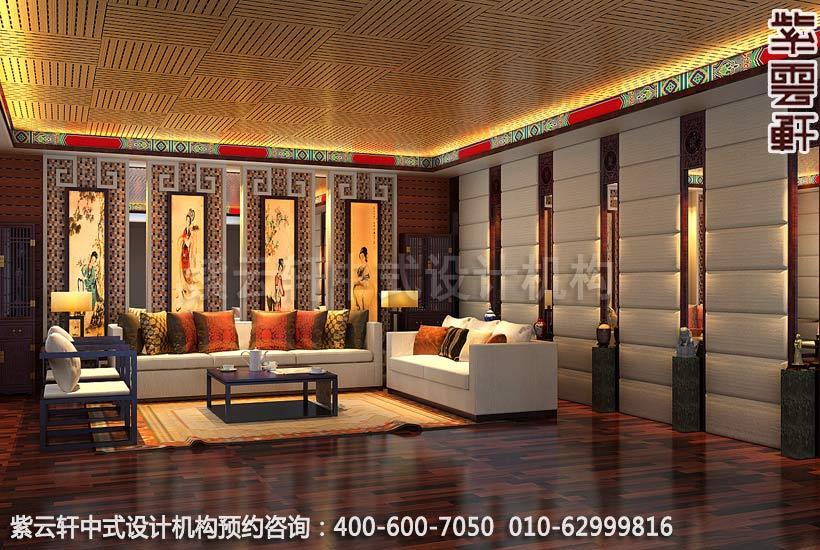 别墅现代影音室现代中式设计案例
