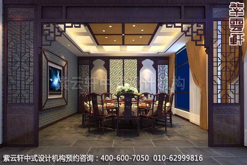 常见的中式装修餐厅中所选用的桌椅的尺寸