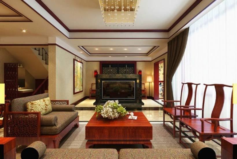 木雕中式沙发家具图片