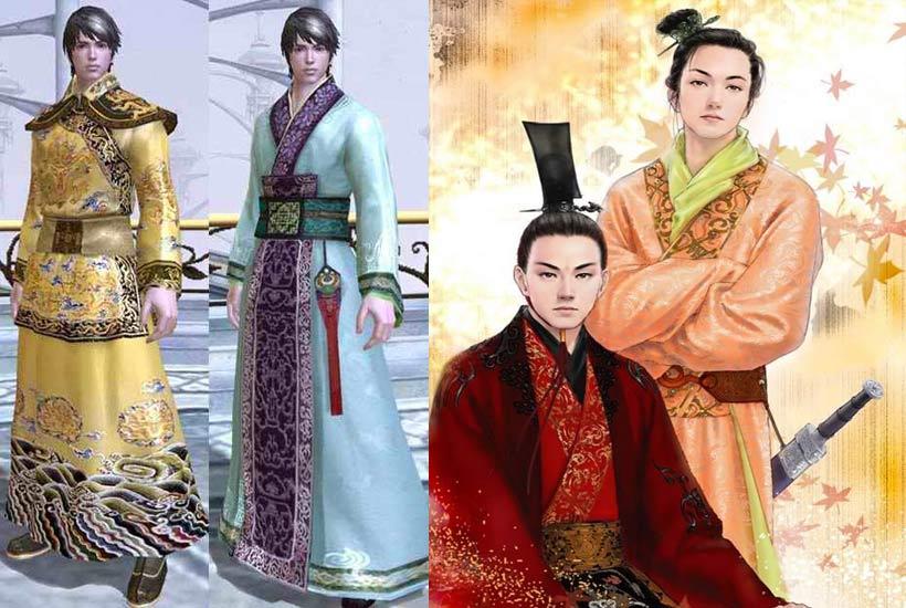 清朝官职服装图案