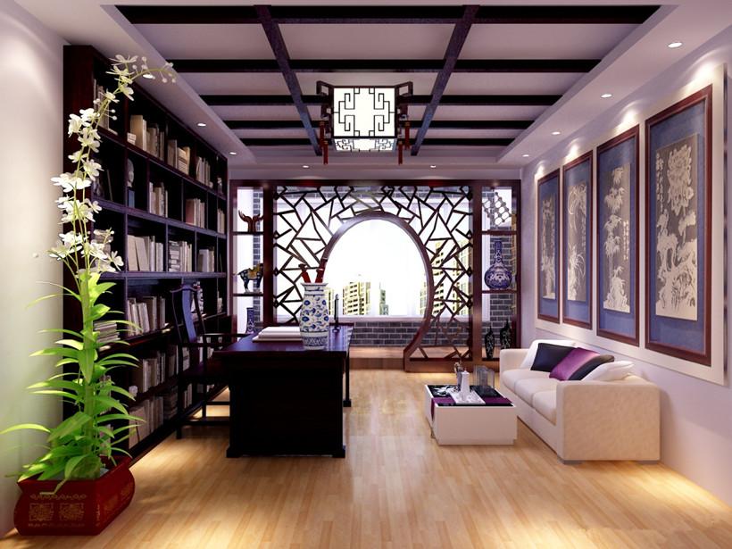 中式装修书房图片