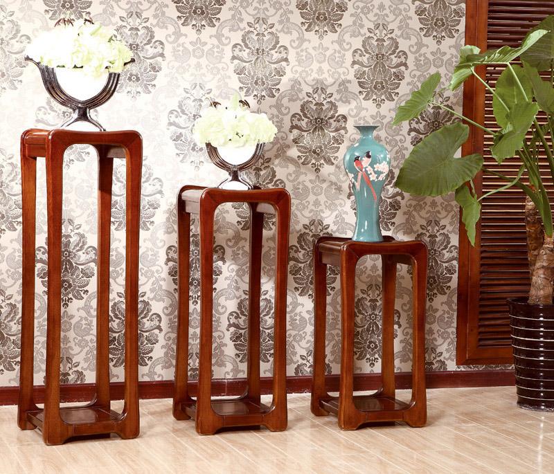 中式花架为中式装修家居增添了静谧淡雅的气质图片