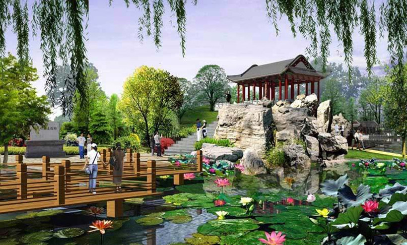 介绍植物对新中式风格园林景观营造的方式图片