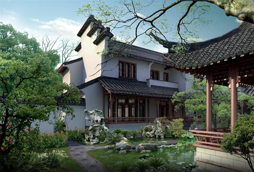现代新中式风格景观对古典园林的衍变发展图片
