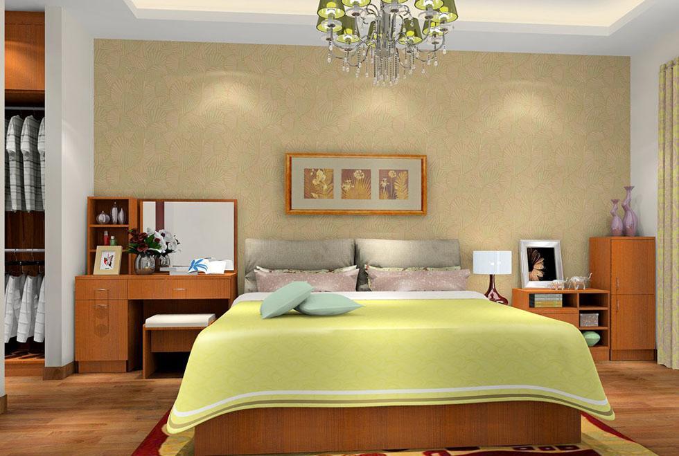 四套温馨典雅的新中式风格卧室装修效果图高清图片