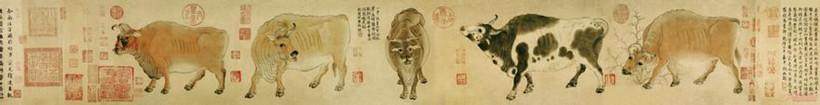 赏析唐代画家韩滉代表作《五牛图》的笔法风格