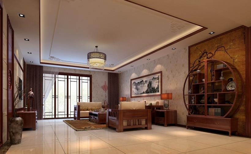 下面来说说中式装修客厅中尖角的化解方法