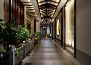 昆山私人会所简约中式设计案例-有限空间无限的美