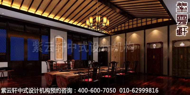 私人会所茶室古典中式设计案例图