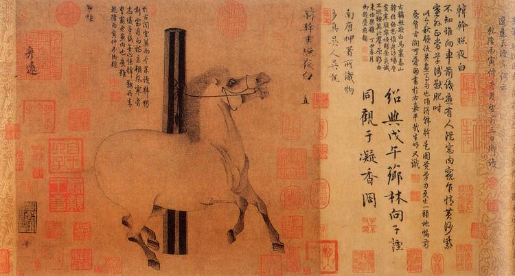 赏析唐代杰出画家韩干代表作品《照夜白图》