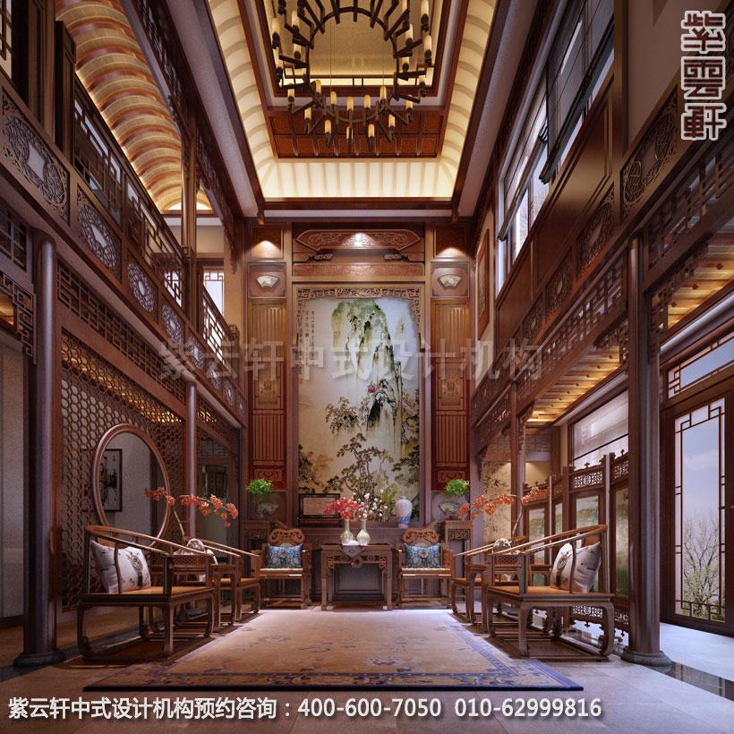 别墅中堂古典中式设计案例图