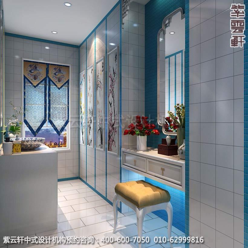 别墅卫生间简约中式设计效果图