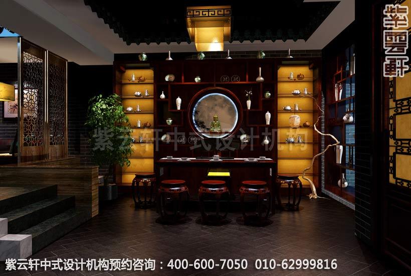茶楼茶区新中式设计效果图