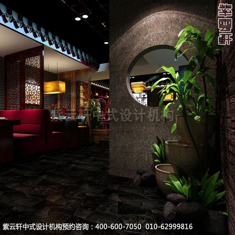 茶楼水景区新中式设计效果图