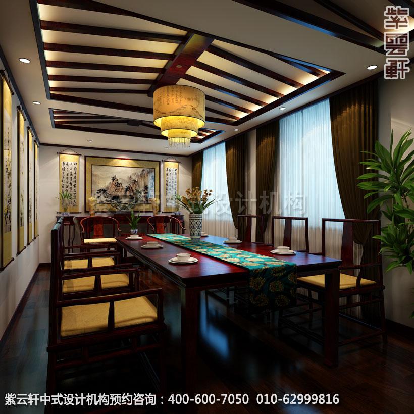 茶楼三层中包新中式设计效果图