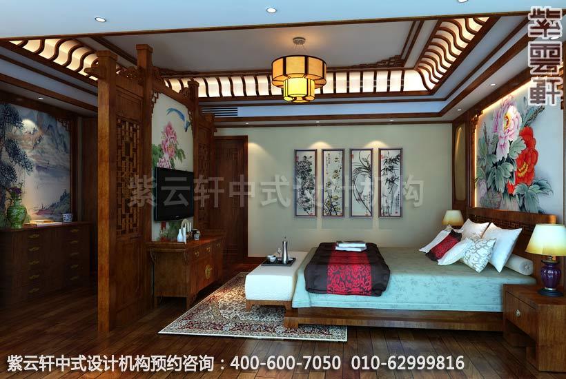中式风格古典主卧室别墅
