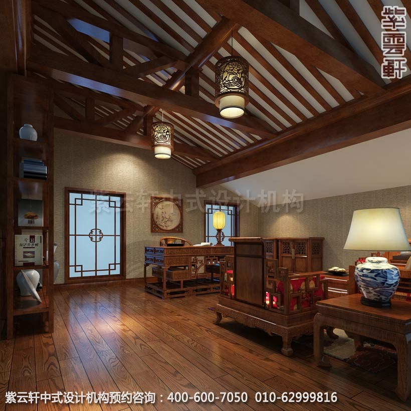 主卧室书房古典中式风格