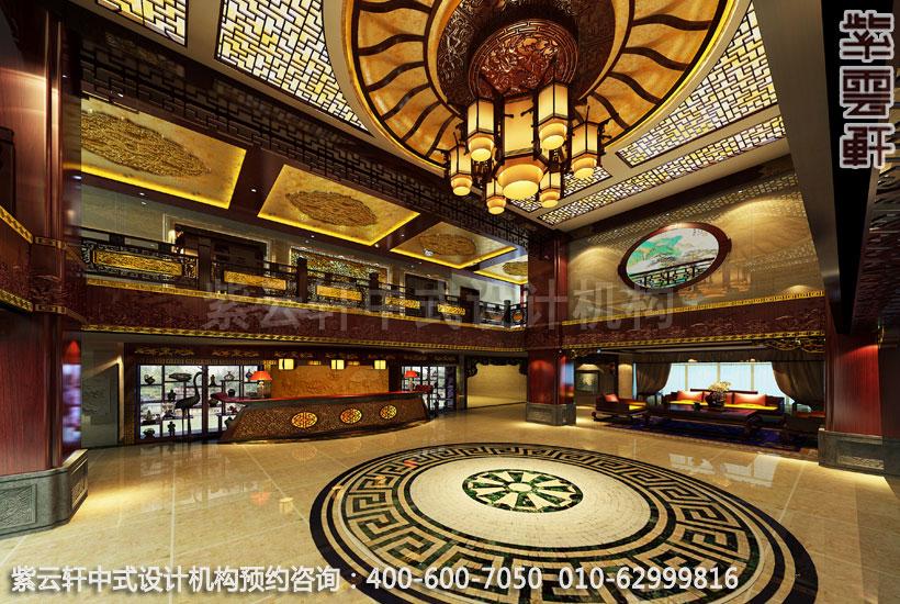 古典中式装修古城酒店大厅