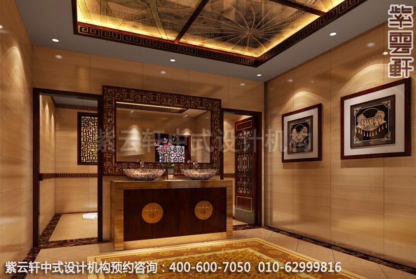 卫生间古典中式装修酒店
