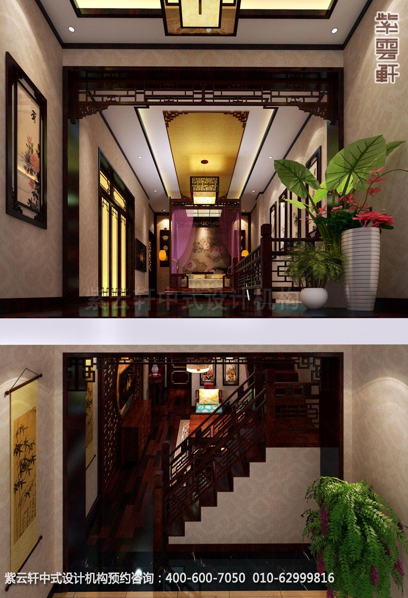 古典中式装修酒店复式套房