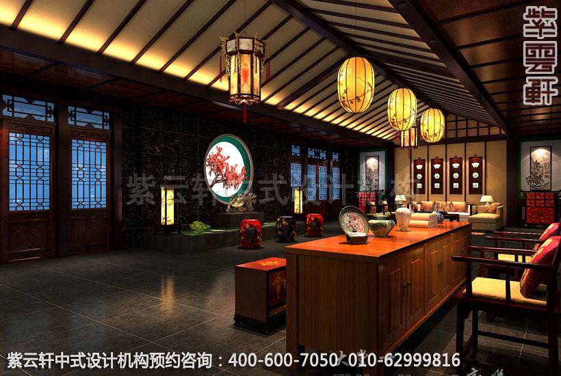 高档酒店大堂古典中式设计效果图