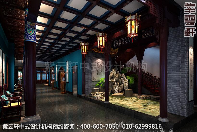高档酒店过道古典中式设计效果图