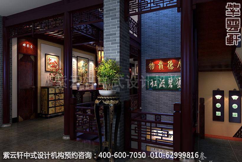 高档酒店公共区域古典中式设计效果图