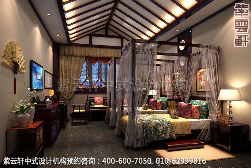高档酒店客房古典中式设计效果图