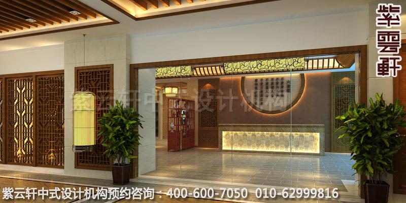 茶餐厅门厅简约中式设计效果图