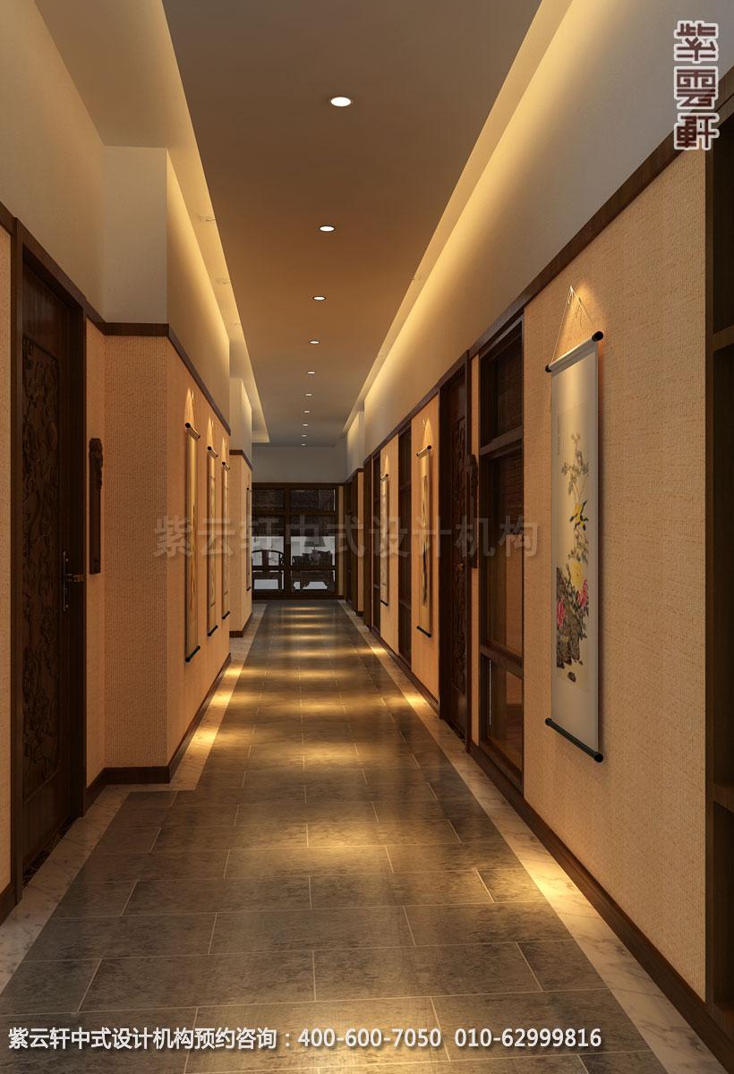 茶餐厅走廊简约中式设计效果图
