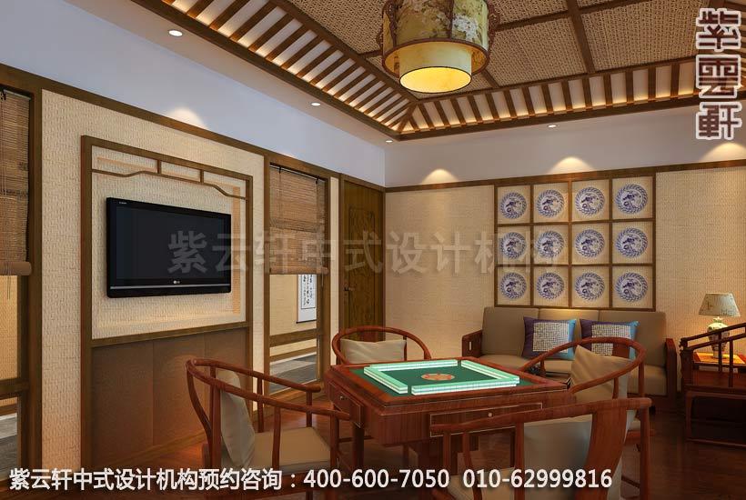 茶餐厅小包间简约中式设计效果图