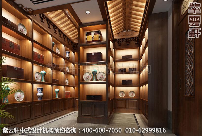 私人会所展览室新中式设计效果图