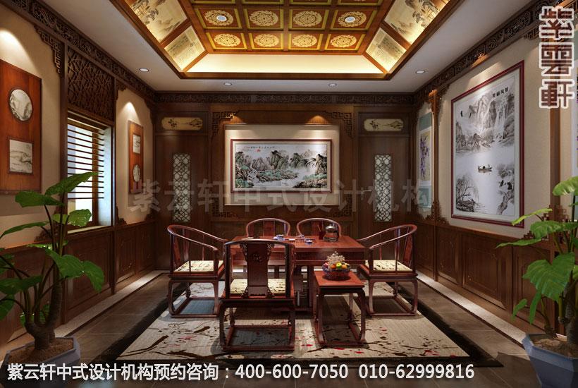 私人会所茶室新中式设计效果图
