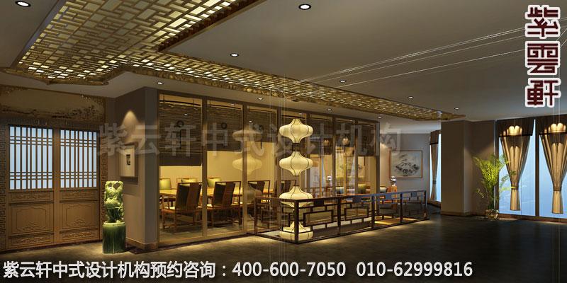茶会所走廊简约中式设计效果图