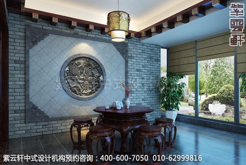 复式住宅休闲室古典中式设计效果图